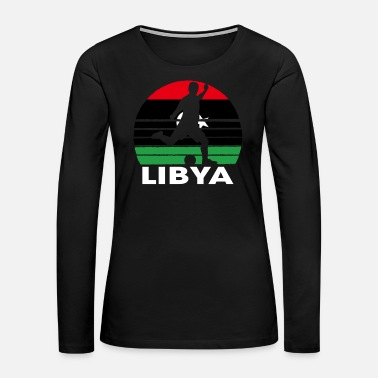 World Champion Libya Soccer Football LBY - Women's Premium Long Sleeve T-Shirt