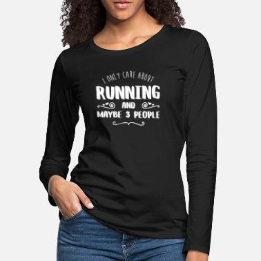 Hobby Cook I Only Care About Running FUNNY SHIRT - Women's Premium Longsleeve Shirt