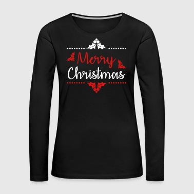 Hummingbird Merry Christmas Eve Santa Claus Winter Snow Gift - Women's Premium Long Sleeve T-Shirt