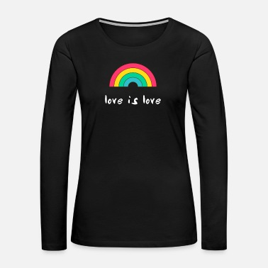 Community Gay rainbow flag pride gaypride homosexual support - Women's Premium Long Sleeve T-Shirt