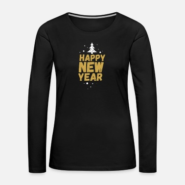 Champagne-glass New Years Eve Happy New Year 2019 2020 Party - Women's Premium Long Sleeve T-Shirt