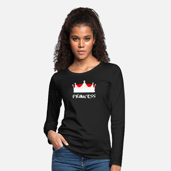 Gift Idea Long-Sleeve Shirts - Princess royalty crown majesty - Women's Premium Longsleeve Shirt black