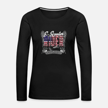 Electricity E-Scooter Electricscooter USA - Women's Premium Long Sleeve T-Shirt