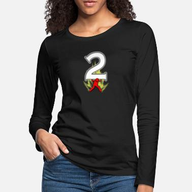 2 Super Icon Number 2 - Women's Premium Longsleeve Shirt
