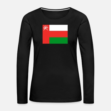 Country Flag of Oman (om) - Women's Premium Long Sleeve T-Shirt