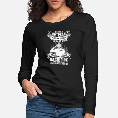 Korean War Veteran Veteran afghanistan veteran korean war veteran v - Women's Premium Longsleeve Shirt