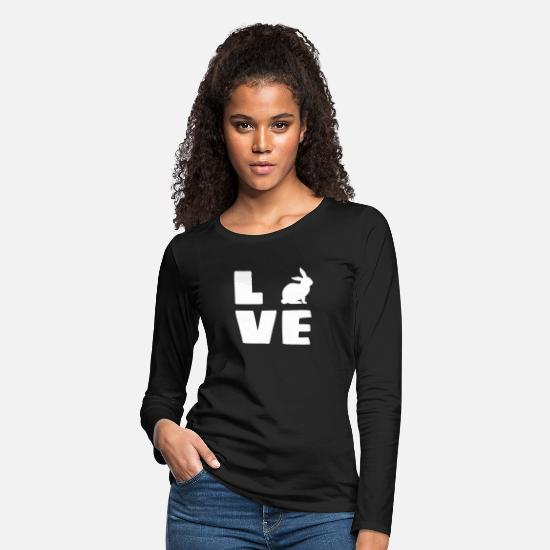 Pet Long-Sleeve Shirts - love rabbits - Women's Premium Longsleeve Shirt black
