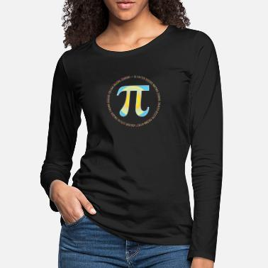 Pi PI CIRCLE WITH NUMBERS - Women's Premium Longsleeve Shirt