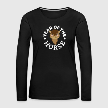 1966 Chinese Zodiac Year of the Horse Cute Gift Idea - Women's Premium Long Sleeve T-Shirt