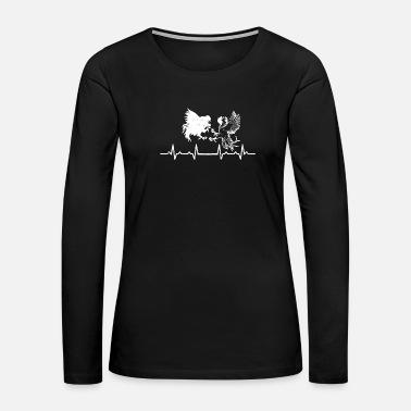 Rhythm Heartbeats Cockfighting Heart Rate - Women's Premium Long Sleeve T-Shirt