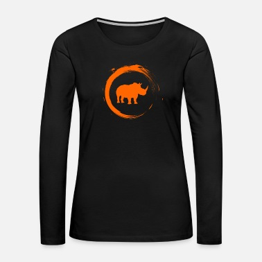 South Africa Rhino - Women's Premium Long Sleeve T-Shirt