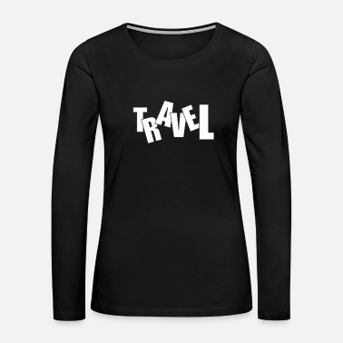 Bug Travel cool text - Women's Premium Long Sleeve T-Shirt