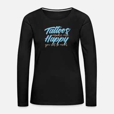 Tattooed Tattoos - Women's Premium Long Sleeve T-Shirt