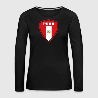 Lima Peru coat of arms / gift South America flag Lima - Women's Premium Long Sleeve T-Shirt