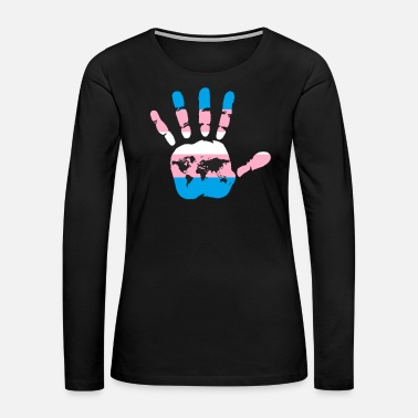Transgender Transgender Flag Hand - Women's Premium Long Sleeve T-Shirt
