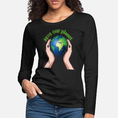 Save save the planet gift shirt - Women's Premium Longsleeve Shirt