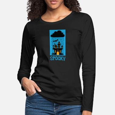 Vampire Spooky Halloween Trick or Treat Castel Party Gift - Women's Premium Longsleeve Shirt