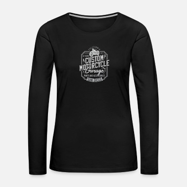 Chopper Motorcycle - Women's Premium Long Sleeve T-Shirt