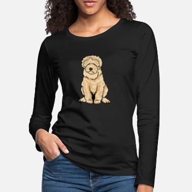 Cute Cool Funny Cute Dog Labradoodle - Women's Premium Longsleeve Shirt