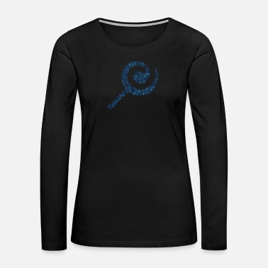 Birth Snow Wordcloud of a lollipop form (blue) - Women's Premium Long Sleeve T-Shirt