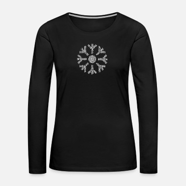 Stylish Binäre Wortwolke in snow Form (white) - Women's Premium Long Sleeve T-Shirt