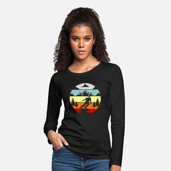Gift Idea Long-Sleeve Shirts - Ski Wintersport SKi Jumper Gift Idea - Women's Premium Longsleeve Shirt black