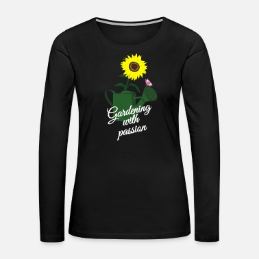 Daisy Gardening with passion - Women's Premium Long Sleeve T-Shirt