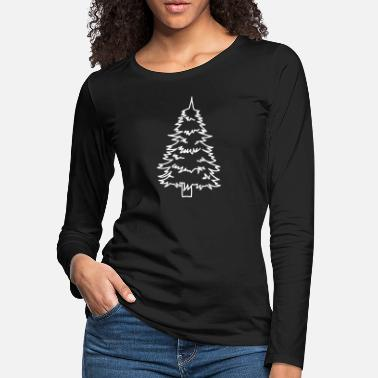 Christmas Tree Drawing - Women's Premium Longsleeve Shirt