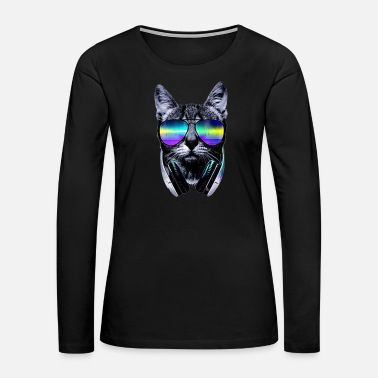 Dj Cat DJ Shirt - Women's Premium Long Sleeve T-Shirt