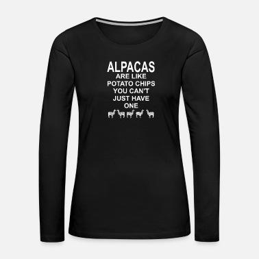 Chip Alpacas are like potato chips - Alpaca, Lama - Women's Premium Long Sleeve T-Shirt