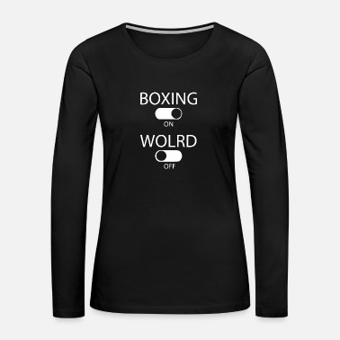 Punch boxing on world black 2 - Women's Premium Long Sleeve T-Shirt