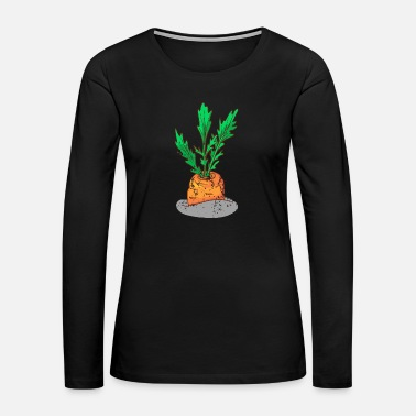 Vitamin Retro Vintage Grunge Style Carrots - Women's Premium Long Sleeve T-Shirt