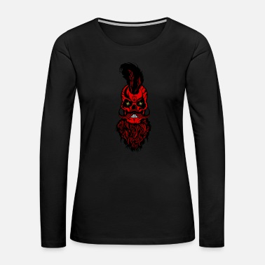 Tiger skull hipster bearded beard mustache spider scorpi - Women's Premium Long Sleeve T-Shirt