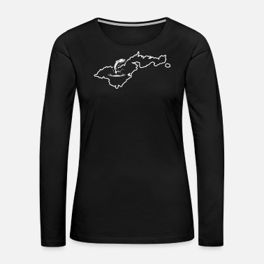 Samoa Trout Fishing Shirt American Samoa Tiger Trout - Women's Premium Long Sleeve T-Shirt