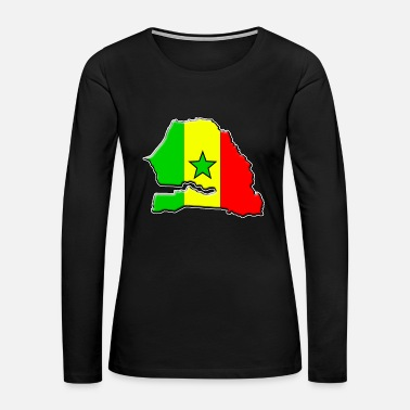Senegal Senegal flag map - Women's Premium Long Sleeve T-Shirt