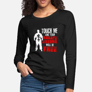 Self Defense Karate self-defense martial arts fighter punch - Women's Premium Longsleeve Shirt