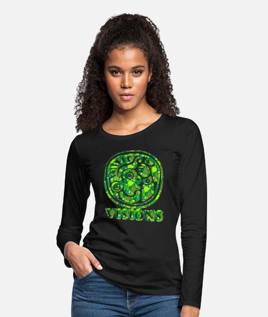 Birthday Long-Sleeve Shirts - Visions of Native Americans and Native Cultures - Women's Premium Longsleeve Shirt black