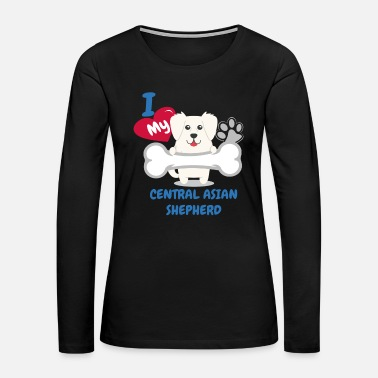 Asian CENTRAL ASIAN SHEEPDOG Cute Dog Gift Idea Funny Dogs - Women's Premium Long Sleeve T-Shirt
