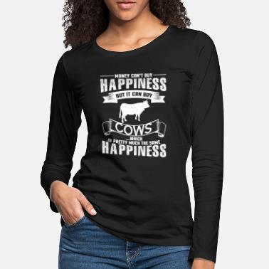 Cow Money Can Buy Cows Funny Cow - Women's Premium Longsleeve Shirt