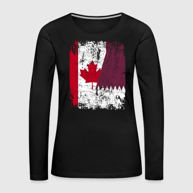 Canada CANADA QATAR FLAG - Women's Premium Long Sleeve T-Shirt