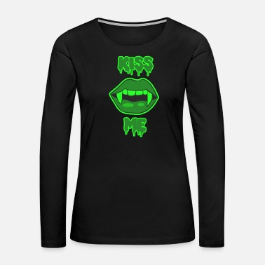 Vampire Sexy Kiss Me Halloween vampire lips - Women's Premium Long Sleeve T-Shirt