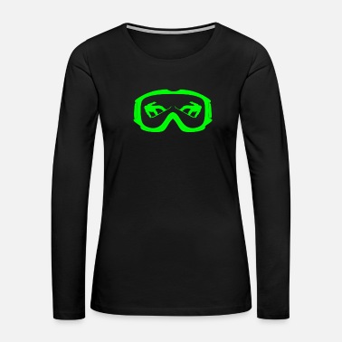 Skiing snowboarding snow goggles boarder sport - Women's Premium Long Sleeve T-Shirt