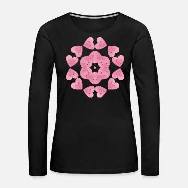 Love Me Beautiful heart love stars christmas - Women's Premium Long Sleeve T-Shirt