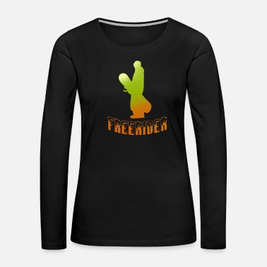 Boarders Snowboarder snowboarding freerider snow - Women's Premium Long Sleeve T-Shirt