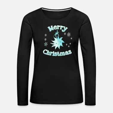Christ Poinsettia star Merry Christmas - Women's Premium Long Sleeve T-Shirt