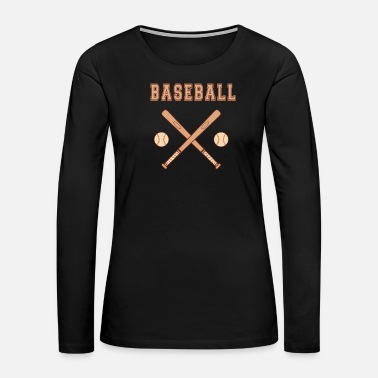 Baseball Bat Baseball bat with balls Bat - Women's Premium Long Sleeve T-Shirt