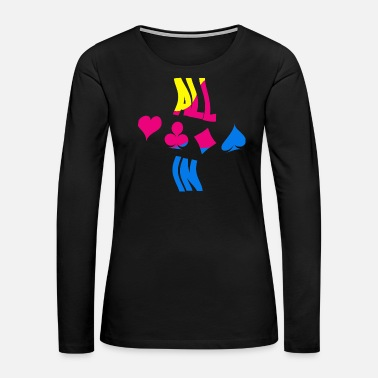 Texas Poker ALL IN Karten Pik Texas Holdem - Women's Premium Long Sleeve T-Shirt