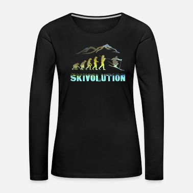 Freestyle Ski evolution skier snow sport cool - Women's Premium Long Sleeve T-Shirt