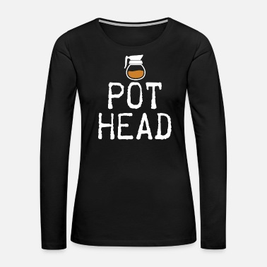 Waiter Coffee Pot Head Coffee Beans Cool Gift - Women's Premium Long Sleeve T-Shirt