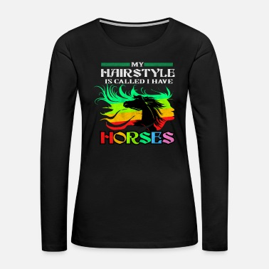 Pony Horse Equestrian Dressage Girl Pony Appaloosa Gift - Women's Premium Long Sleeve T-Shirt